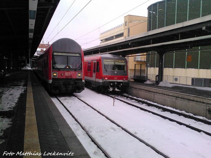 BR 628 Als RE5 Aus Neustrelitz Hbf + BR 112 mit Dostos Als RE5 Nach Neustrelitz Hbf Im Bahnhof Stralsund Hbf