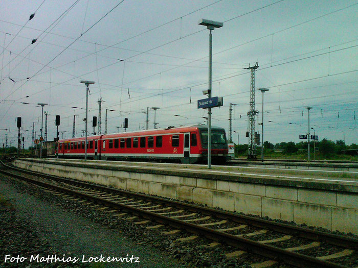 Ein 628/928 Der DB Regio Bayern Als Leihfahrzeug Im Bahnof Stralsund Hbf Beim Rangieren