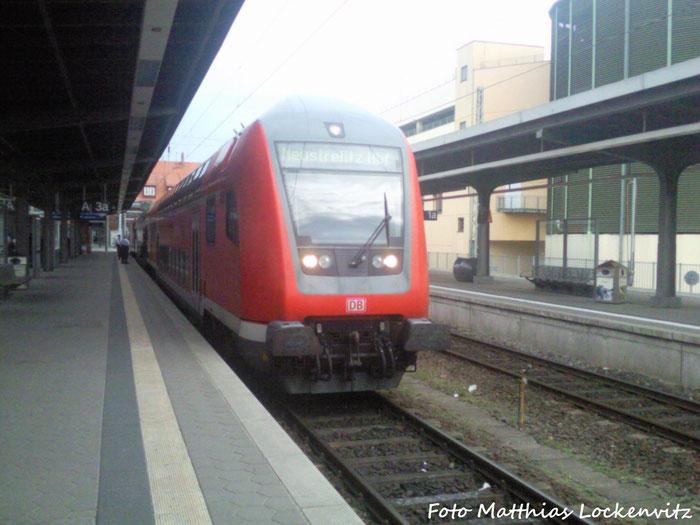 Als Ersatz Für Einen 628 Musste ein Dosto-zug Eingesetzt Werden mit Der BR 114 (E-Lok) / Hier Steht Er Abfahrbeireit Im Stralsunder Hbf