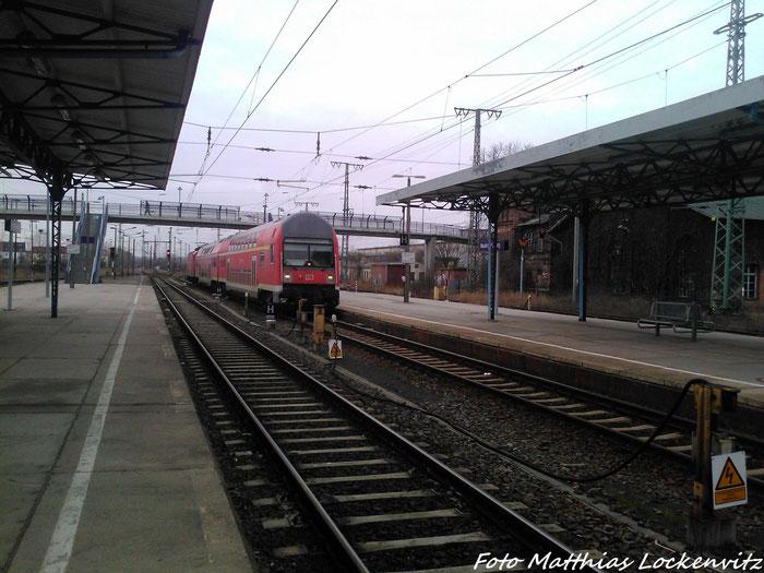 Einfahrt RE5 Aus Stralsund In Den Bahnhof Neubrandenburg am 3.2.13