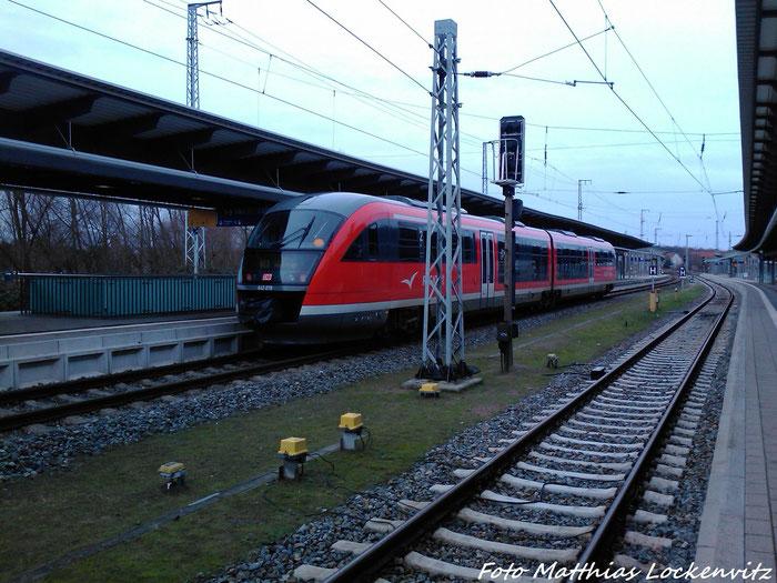642 078 Als RE8 Nach Wismar Im Bahnhof Rostock am 3.2.13
