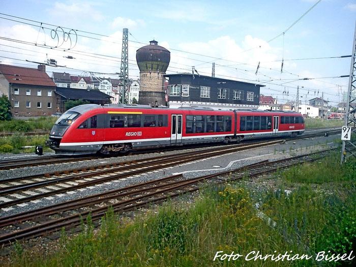 BR 642 RE nach Erfurt Hbf beim Verlassen Nordhausen