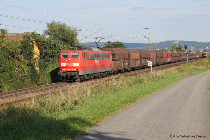 151 078-3 im August,in Pölling (Bayern), Strecke Nürnberg-Regensburg