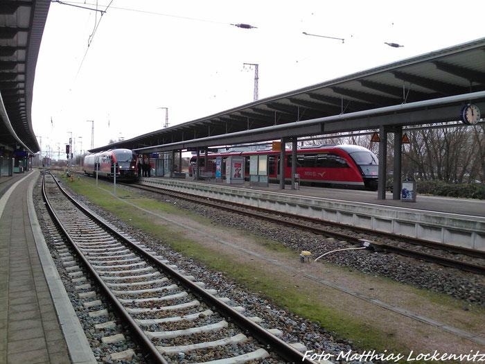 2 642er (RE8 Nach Tessin & RE8 Nach Wismar) Im Bahnhof Rostock Hbf am 3.2.13