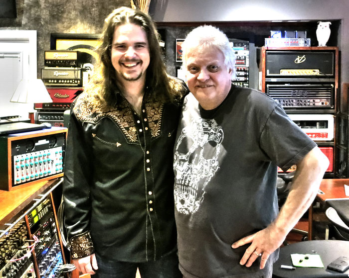 Michael Wagener & me at WIreWorld Studio (Nashville/USA) in 2015