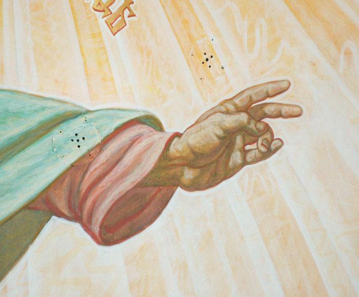фреска, роспись храма, мастерская Апостол