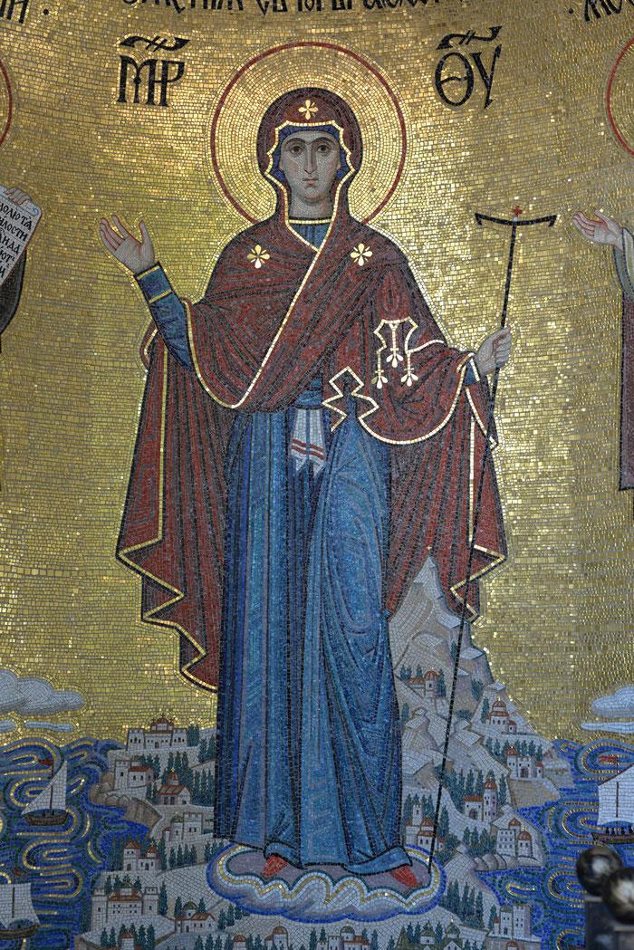 мозаика Богородица, игуменья Святой Горы Афонской