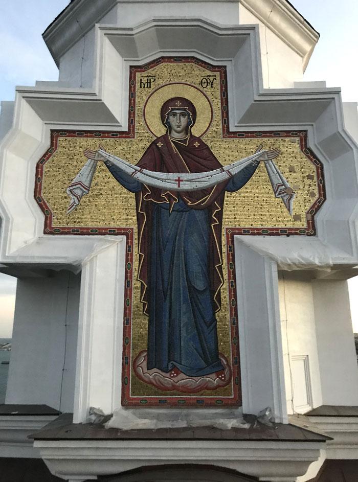 Мозаика Покрова Пресвятой  Богородицы