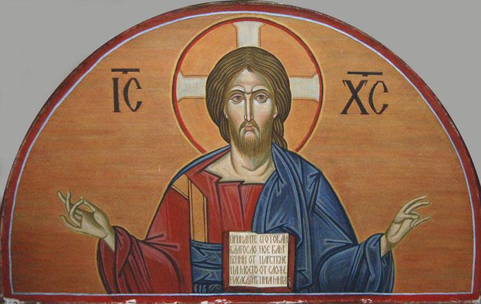 Фреска Господь Вседержитель, мастерская Апостол