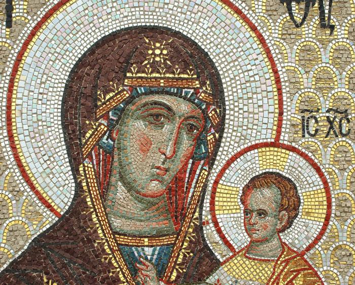 Богородица Смоленская, мозаика, 2014. Мозаичная мастерская Апостол, mosaic, mosaik, studio Apostle