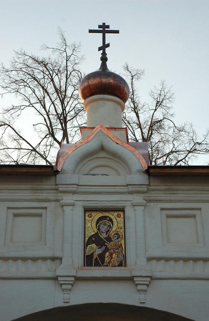Мозаика Богородица Иверская, мозаичная мастерская Апостол