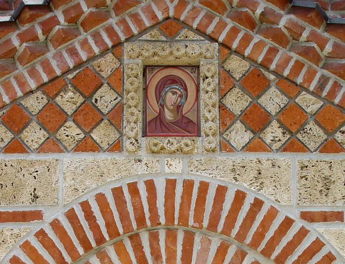 фреска Богородицы