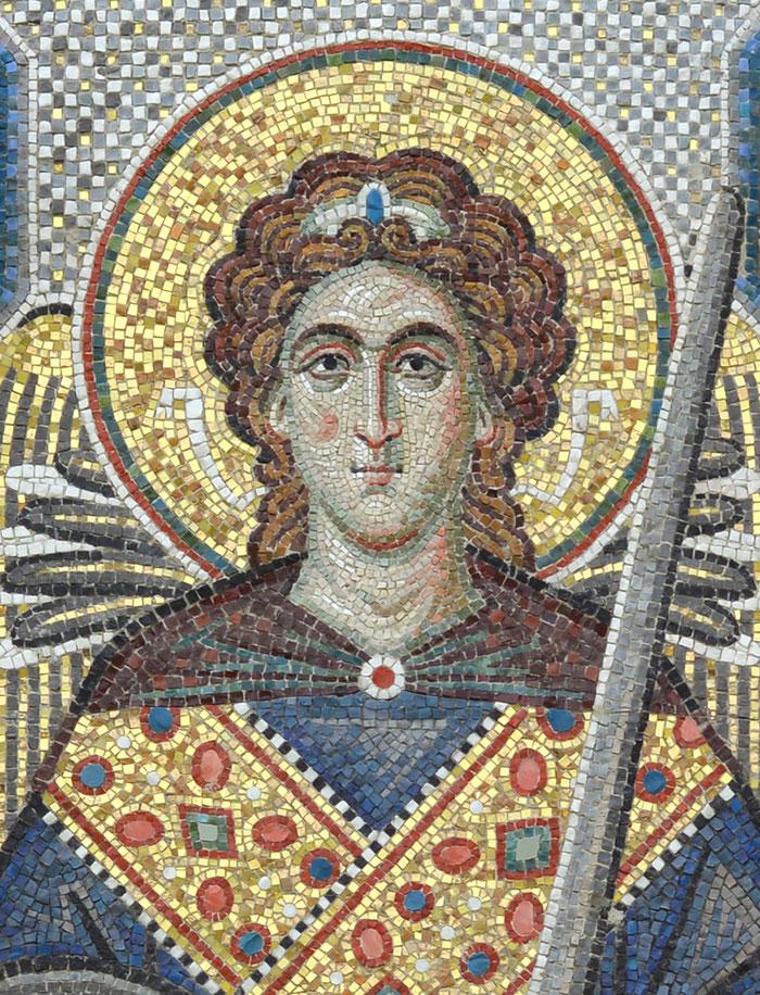 Мозаика Архангел Гавриил. Храм Рождества Пресвятой Богородицы