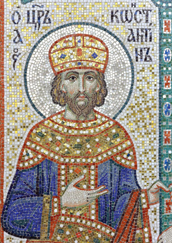 мозаика Святой царь Константин