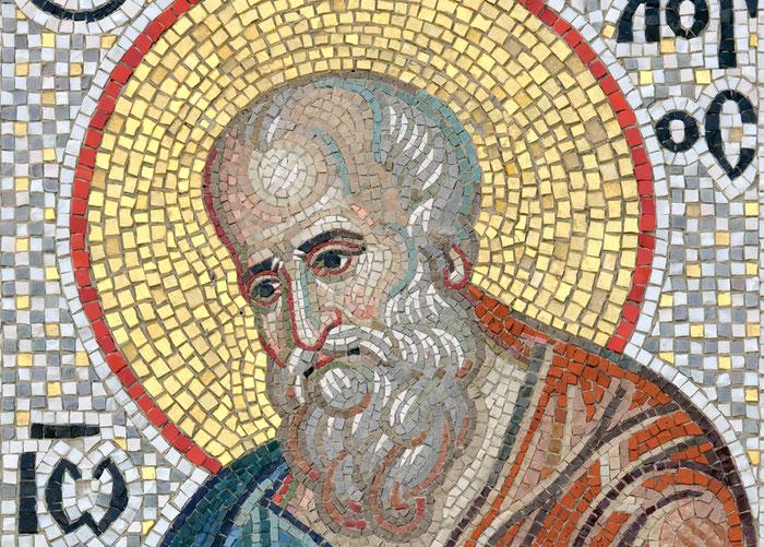 Мозаика Иоанн Богослов. Мозаичная мастерская Апостол