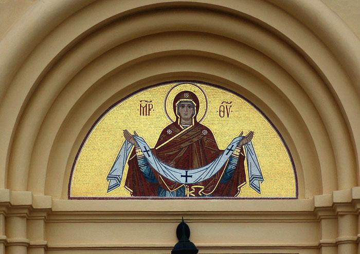 """Мозаика Покрова Богородицы. Мастерская мозаики""""Апостол"""""""