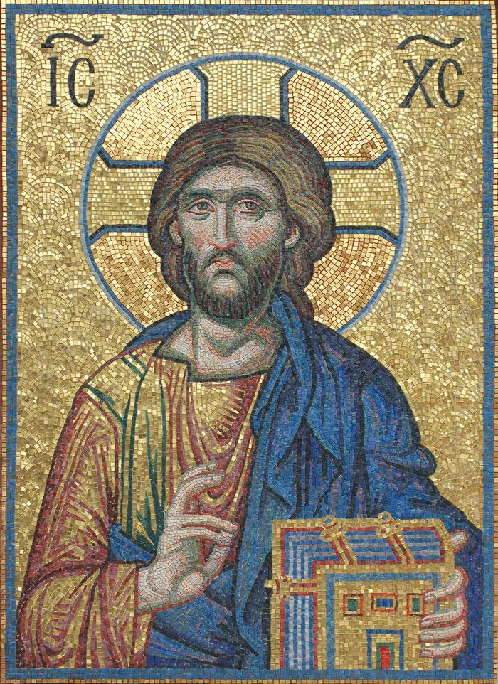Мозаика Господь Пантократор,мозаичная мастерская Апостол