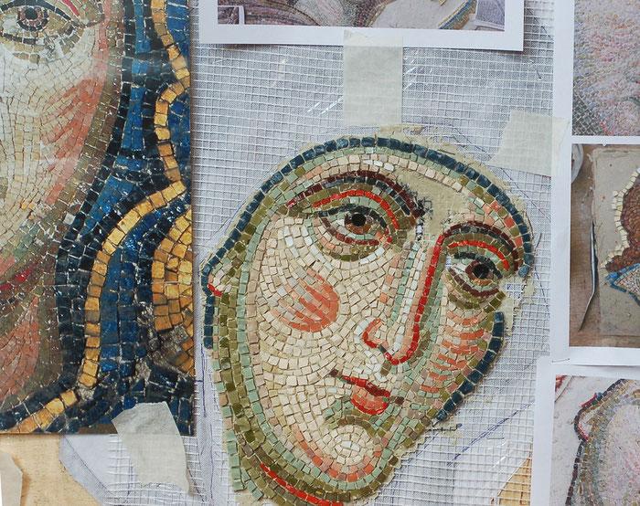 мозаика, мозаичная, икона, мастерская, Апостол, Богородица