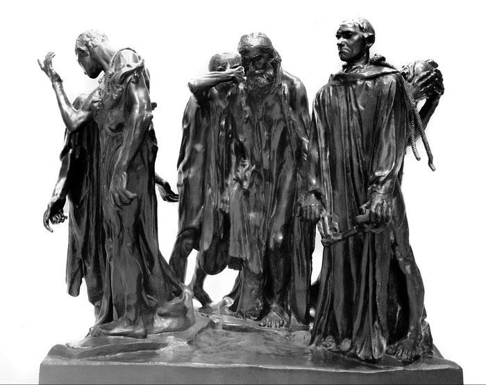 "A. Rodin, ""I borghesi di Calais"""