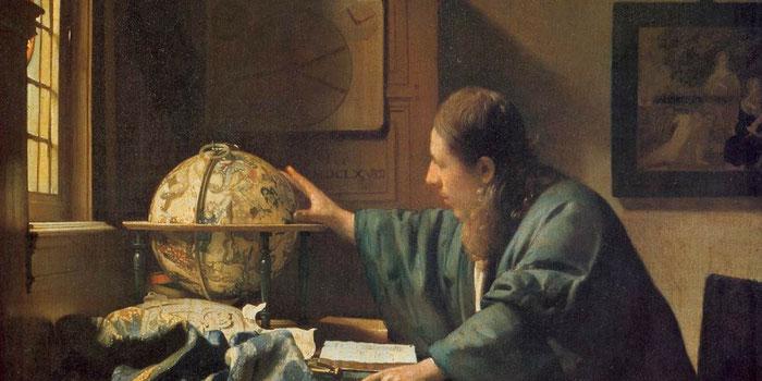 """Jan Vermeer, """"Astronomo"""" (1668), particolare"""