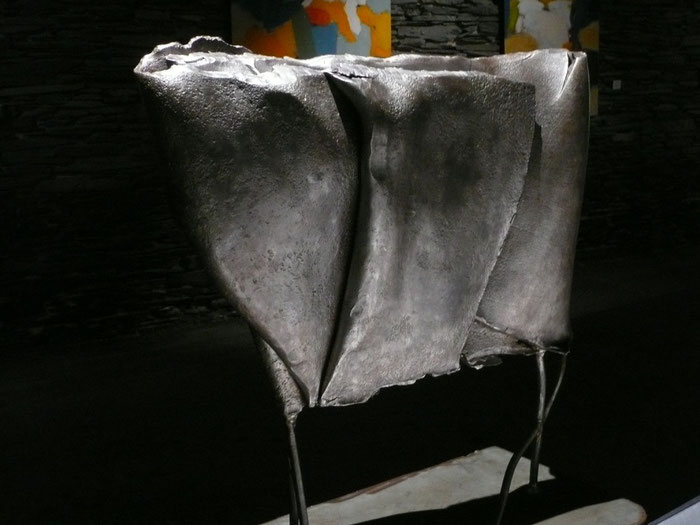 Pièce originale en acier soudé patiné 2010 - 50 x 70 x 30 - Tirage Bronze I à VIII - Fonderie Le Floch à Blain