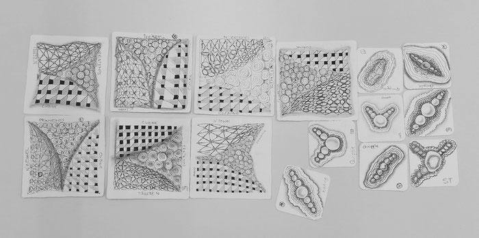 Mosaik aus einigen Tiles, die am Teamanlass entstanden sind.