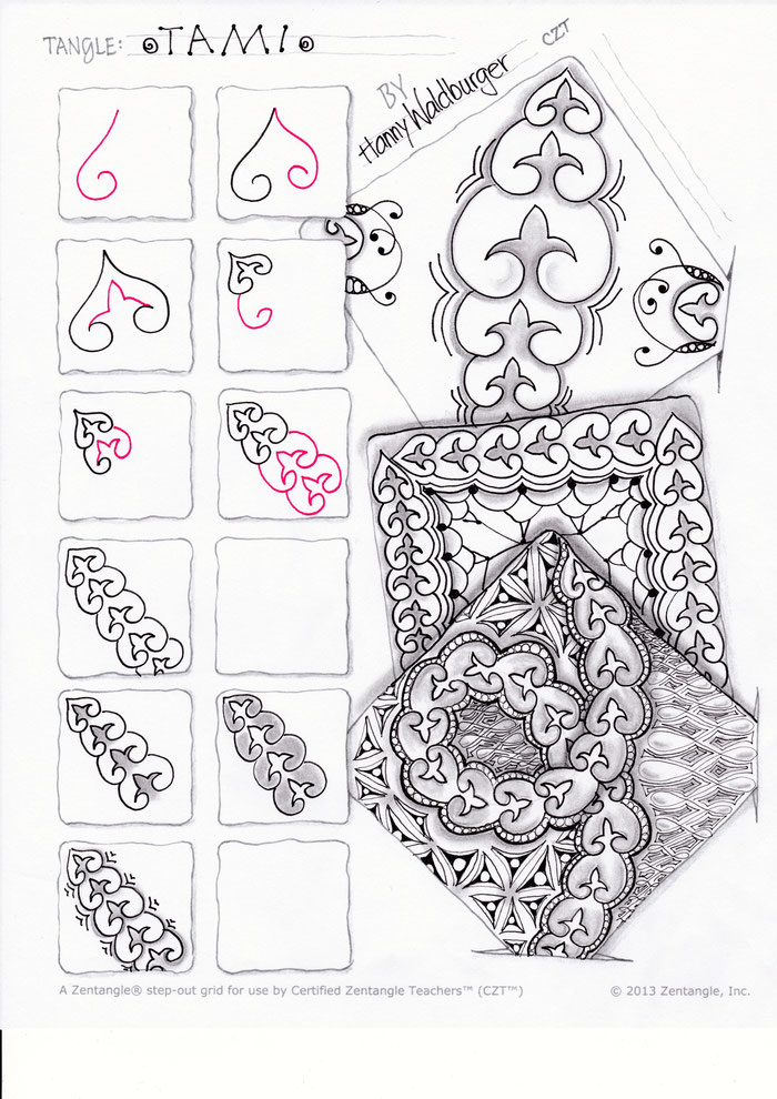 Zentangle pattern Tami by Zenjoy Switzerland