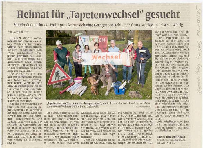 Borkener Zeitung, 11. April 2015