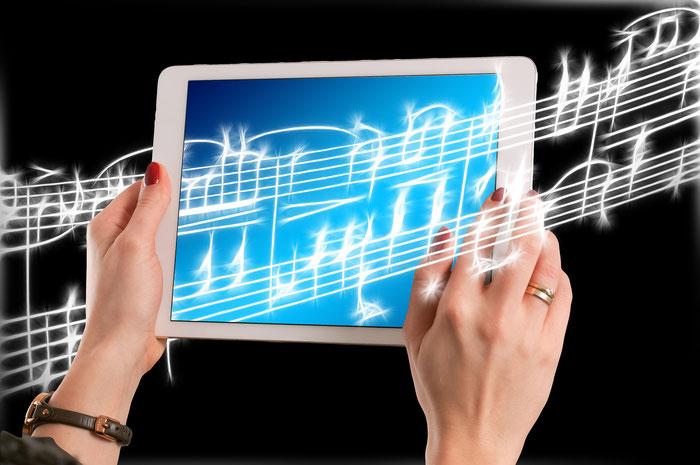 iPad mit Noten