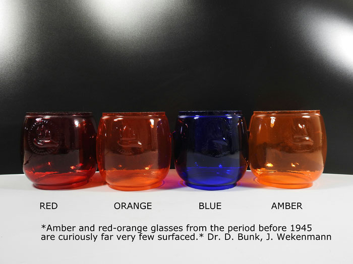 FEUERHAND Nr. 260/280 Colored glass globes including very rare Orange and Amber globes