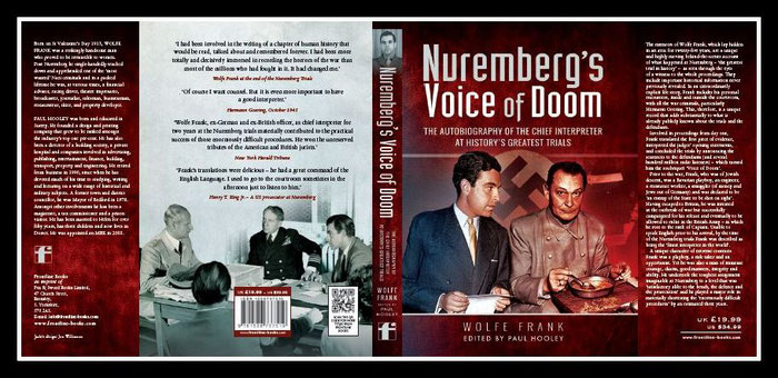 WOLFE FRANK; Grandson of Albert Frank 'Nuremberberg's Voice of Doom' by Paul Hooley