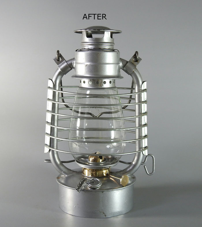 SWISS ARMY KEROSENE LANTERN - DOCUMENTED IN THE SWISS ARMY MUSEUM CATALOG