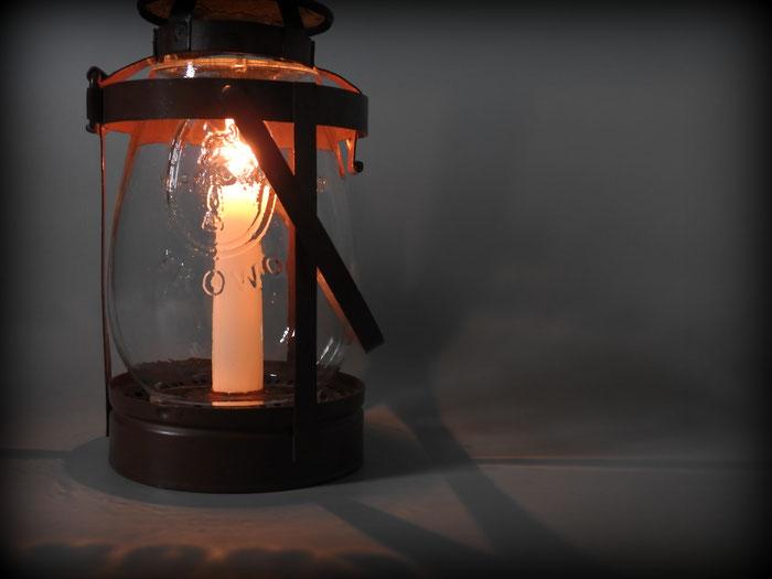 FROWO Nr. 333 - KERZENLANTERNE (candle lantern) with Pup (Hund) globe; WW2