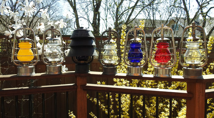 HELVETIA LANTERNS AND COLORED GLOBES
