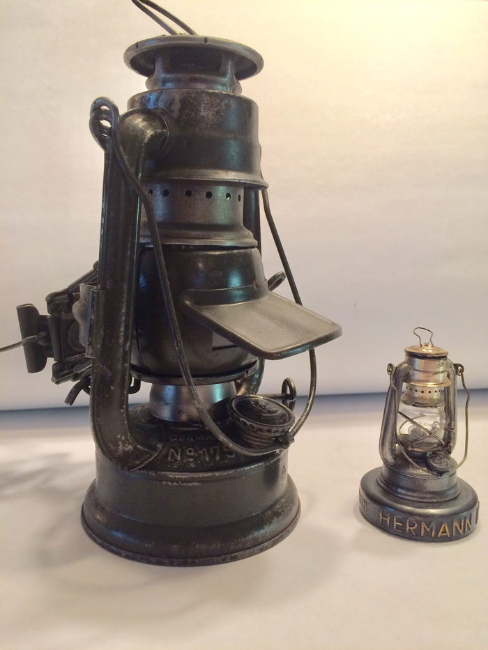 FEUERHAND Nr. 175 KEROSENE LANTERN WITH BLACKOUT 'CAP' ATTACHMENT.
