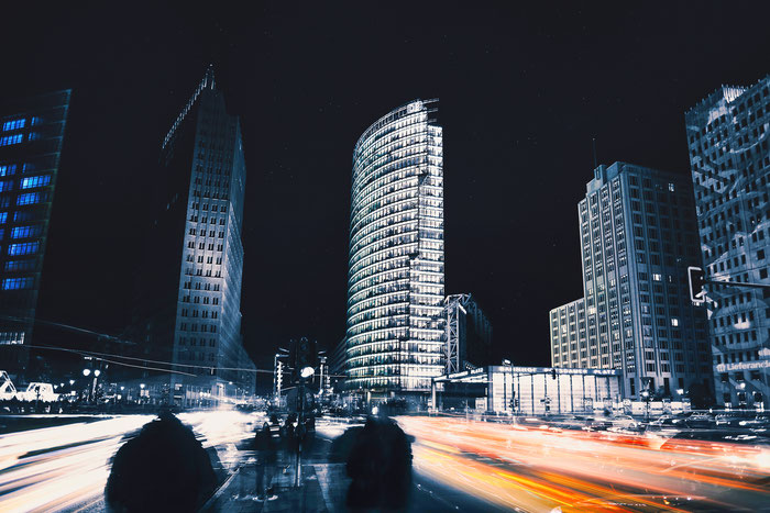Langzeitbelichtung Potsdamer Platz Berlin