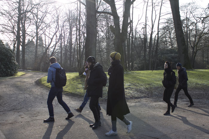 "Anne Pflug ""Sing For Us"" Audio Piece for audio walk at ""TRIP"" guided group exhibition of Klasse Melián HFBK at Ohlsdorfer Friedhof Hamburg February 2018"