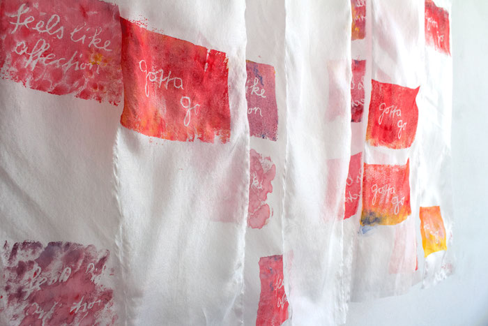 "Installation view of ""Tender Spot"", Ateliers Künstlerhaus Stuttgart 2018."