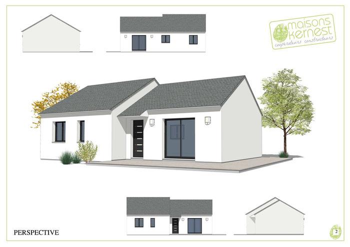 Maisons Kernest, le constructeur organisé en coopérative pour construire votre maison neuve sur un terrain à Guipry-Messac (35480)