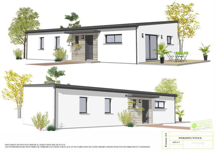Construire une belle maison neuve à Campbon(44750) avec Maisons Kernest, le constructeur d'artisans locaux.