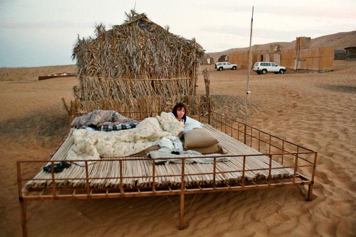 Übernachten in der Wüste -statt in 5* unter 1000*