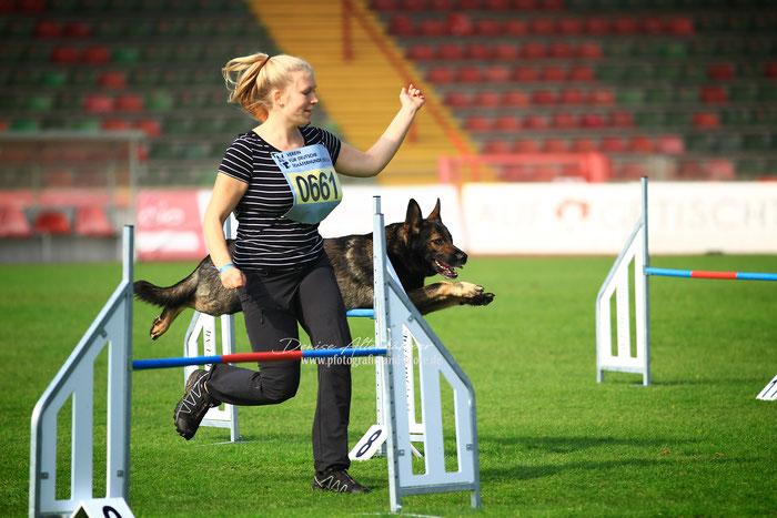Platz 34: Jasmin Hanning mit ihrem Sky-Rider vom Klinkenhagen!