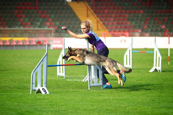 Platz 15: Jana Jansen mit ihrer Emy von der Dorstener Grenze