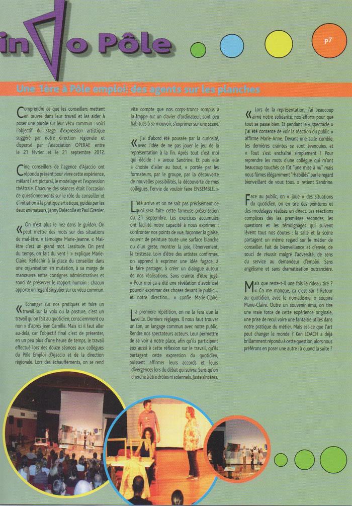 Le journal des agents de Pôle emploi Corse - N°8 / Décembre 2012