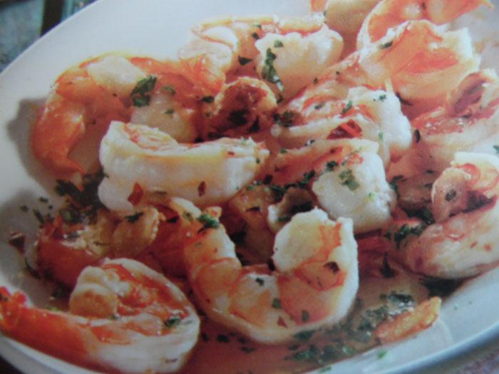 Gamberi con aglio e peperoncino