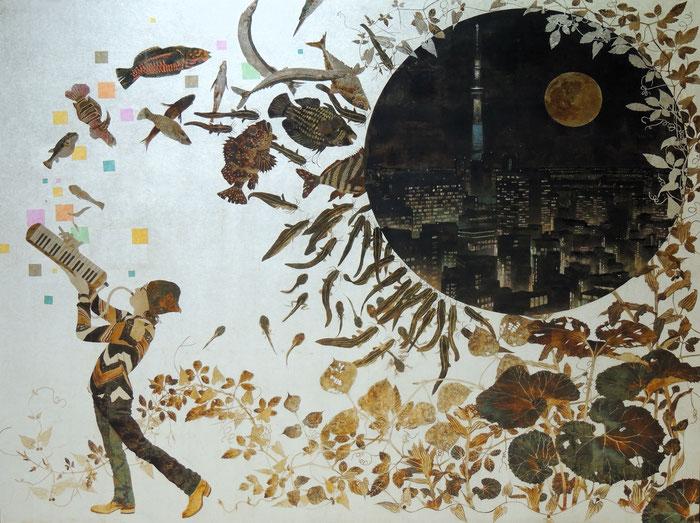 日本画 院展 箔 箔画 箔絵 ピアニカ 近藤仁 再興 第106回