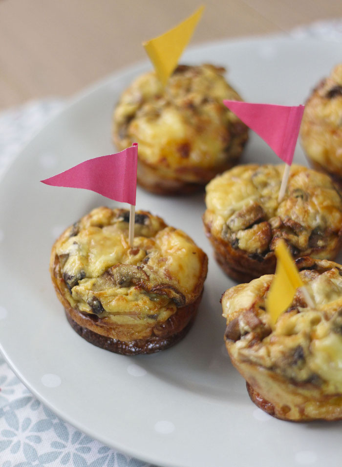 Mini quiches sans pâte