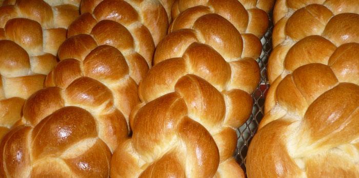 Brot und Zöpfe