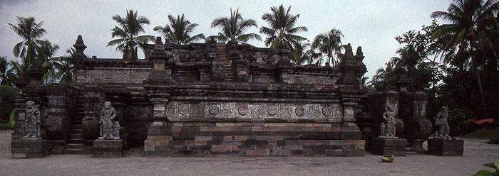 Hindutempel Candi Panataran, 14. Jhdt, Ostjava. Nikon F4. Foto: bonnescape 1993