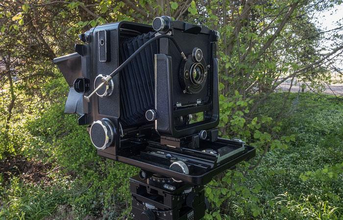 Das Polyxentar 6.8/135 mm aus dem Jahre 1926 an der Wista 45 SP, Foto: bonnescape.de